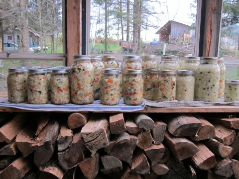 Firewood and ferments. Two of our most-critical wintertime stashes